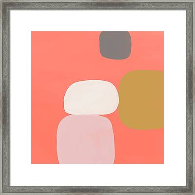 Framed Print featuring the mixed media Coral Stones 1- Art By Linda Woods by Linda Woods