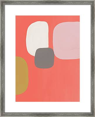 Framed Print featuring the mixed media Coral Stones 2- Art By Linda Woods by Linda Woods