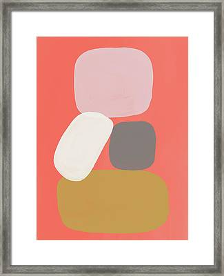 Framed Print featuring the mixed media Coral Stones 3- Art By Linda Woods by Linda Woods