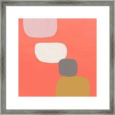 Framed Print featuring the mixed media Coral Stones 4- Art By Linda Woods by Linda Woods