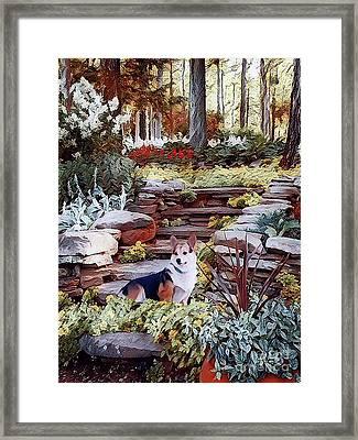Corgi At Highgarden Framed Print