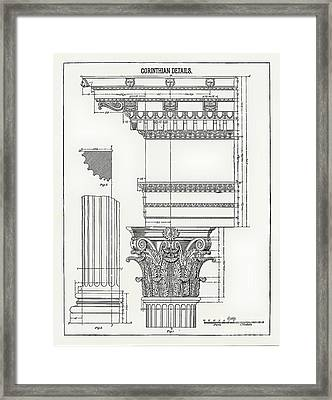 Corinthian Architecture Framed Print