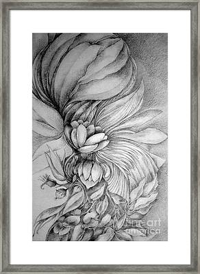 Framed Print featuring the drawing Cornucopia by Rosanne Licciardi