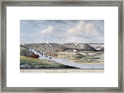 Cornwallis Attack On Fort Lee Framed Print by Fotosearch