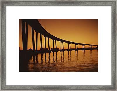 Coronado Bridge Framed Print by Harvey Meston