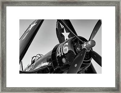 Corsair Under The Setting Sun Framed Print