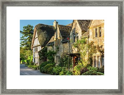 Cotswold Cottages, Stanton, Gloucestershire Framed Print by David Ross