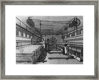 Cotton Mill Framed Print by Hulton Archive