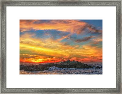 Couds At Sunset Framed Print by Fernando Margolles