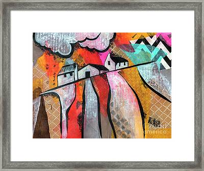 Framed Print featuring the mixed media Country Life by Ariadna De Raadt