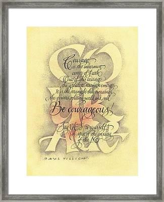 Courage 2 Framed Print