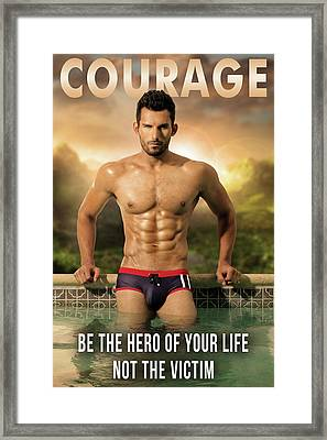 Courage Framed Print by MaleVision