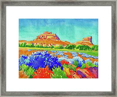 Framed Print featuring the painting Courthouse And Jail Watercolor by Dan Miller