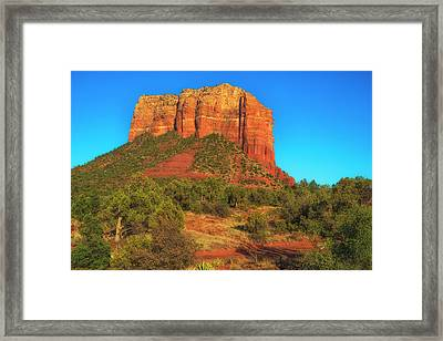 Courthouse Butte Framed Print by Fernando Margolles