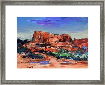 Courthouse Butte Rock - Sedona Framed Print
