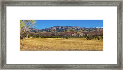 Framed Print featuring the photograph Courthouse Mountain To Baldy Peak - San Juan Large Panorama Pt1 by James BO Insogna