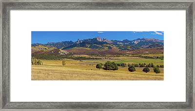Framed Print featuring the photograph Courthouse Mountain To Baldy Peak - San Juan Large Panorama Pt2 by James BO Insogna