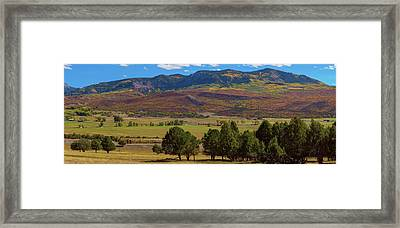 Framed Print featuring the photograph Courthouse Mountain To Baldy Peak - San Juan Large Panorama Pt3 by James BO Insogna