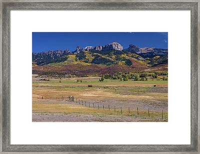Framed Print featuring the photograph Courthouse Mountains And Chimney Rock Peak by James BO Insogna