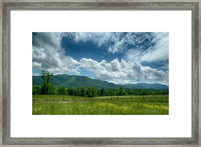 Cove Clouds Framed Print