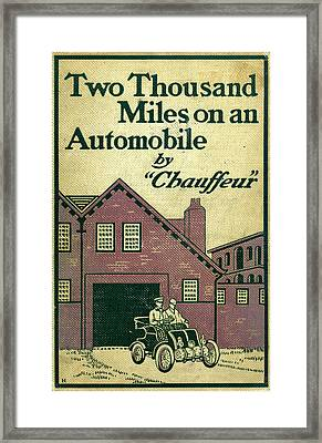 Cover Design For Two Thousand Miles On An Automobile Framed Print