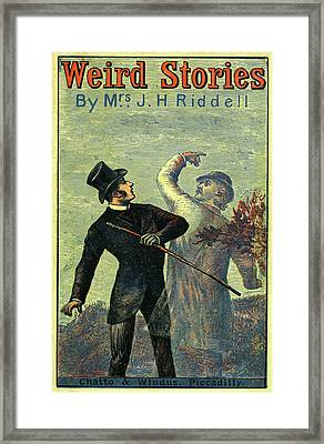 Victorian Yellowback Cover For Weird Stories Framed Print