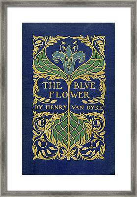 Cover Design For The Blue Flower Framed Print