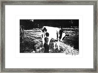 Framed Print featuring the photograph Cow With Children by Patricia Youngquist