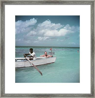 Coward Abroad Framed Print by Slim Aarons