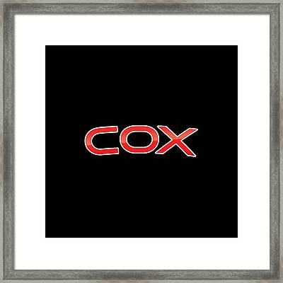 Cox Framed Print
