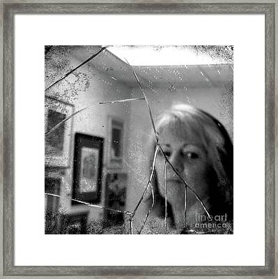 Framed Print featuring the photograph Cracked by Terry Rowe