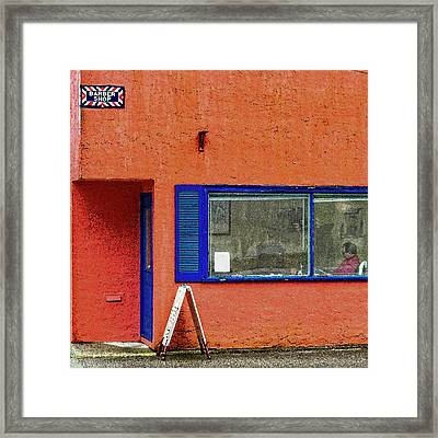 Cranberry Barber Shop Framed Print