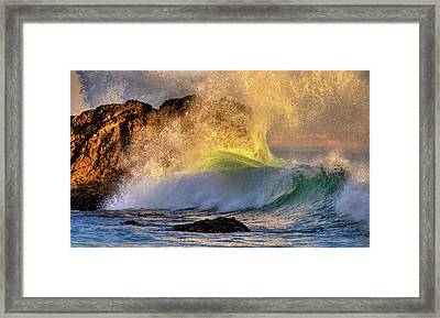 Crashing Wave Leo Carrillo Beach Framed Print