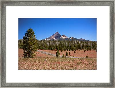Crater Lake Np - Lightening Rod Of The Cascades Framed Print