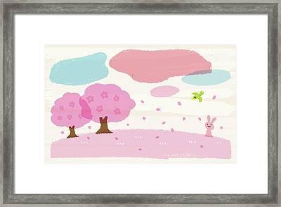 Crayon Spring Framed Print by Taichi k