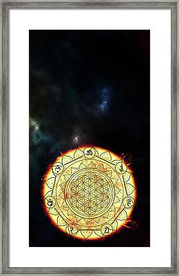 Framed Print featuring the digital art Creative Force by Bee-Bee Deigner