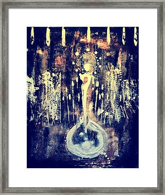 Framed Print featuring the painting Creatrix by 'REA' Gallery
