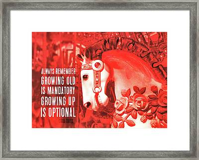 Crimson Carousel Quote Framed Print