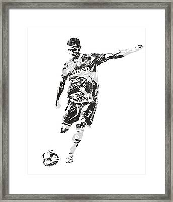 Cristiano Ronaldo Juventus Pixel Art 2 Framed Print