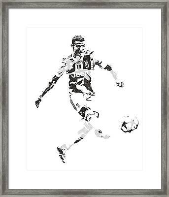 Cristiano Ronaldo Juventus Pixel Art 4 Framed Print