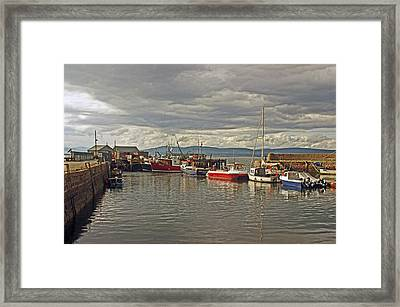 Cromarty. The Harbour. Framed Print