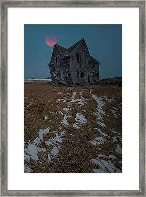 Framed Print featuring the photograph Crooked Moon by Aaron J Groen