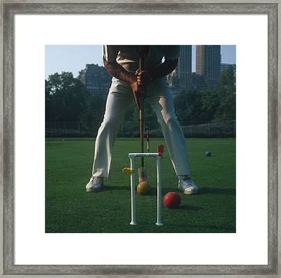 Croquet Player Framed Print