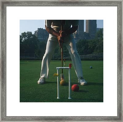 Croquet Player Framed Print