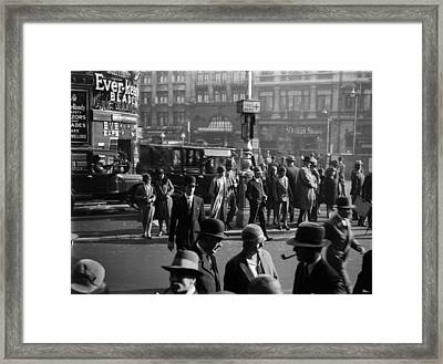 Cross Now Framed Print by General Photographic Agency