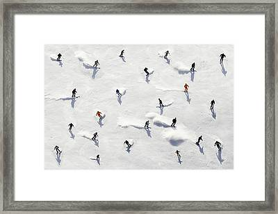 Crowded Holiday Framed Print