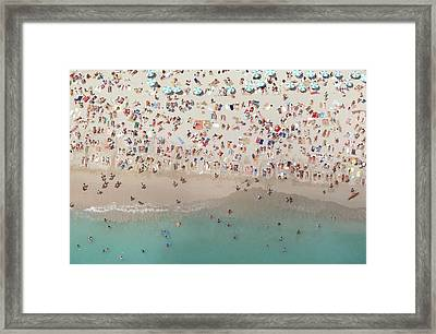 Crowded View, Aerial View Framed Print