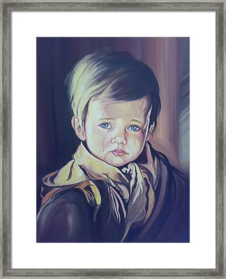 Crying Child Framed Print