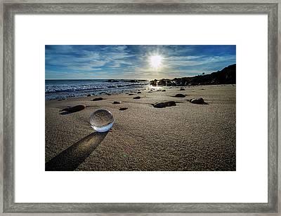 Crystal Ball Sunset Framed Print