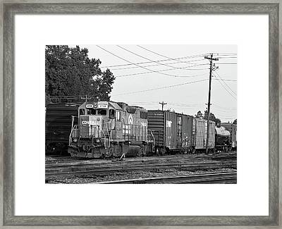 Framed Print featuring the photograph Csx 2758 B W 10 by Joseph C Hinson Photography